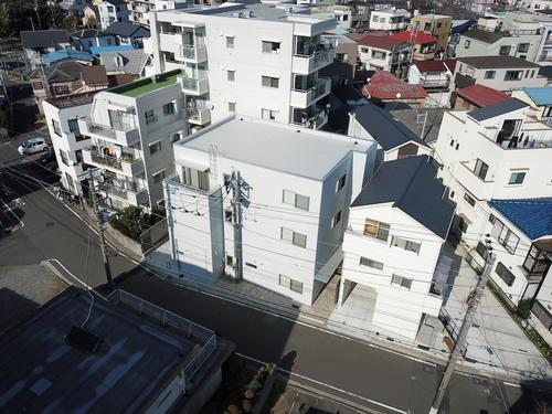 興和電気本社ビル新築工事空撮